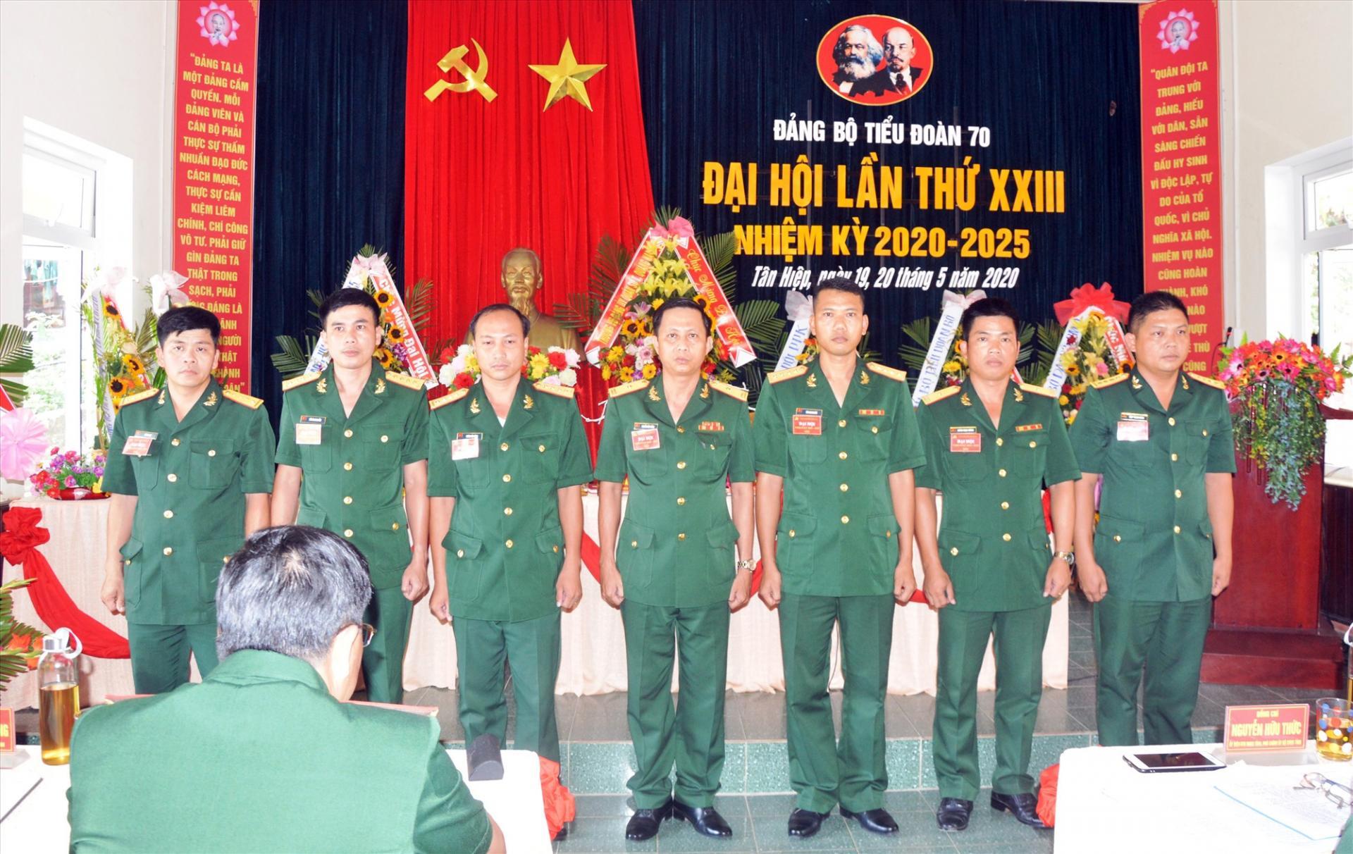 Đại hội Đảng bộ Tiểu đoàn 70 nhiệm kỳ 2020-2025