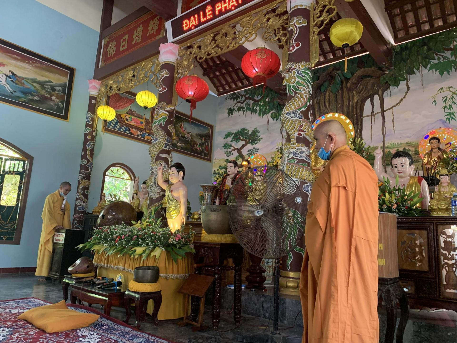 Đại lễ Phật Đản 2021 - Phật lịch 2565 tại Chùa Trân Bửu, Phú Ninh